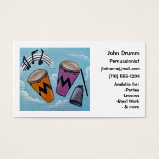 Business Card: Musician, Drummer, Percussionist Business Card