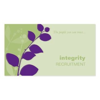 BUSINESS CARD nature silhouette green purple