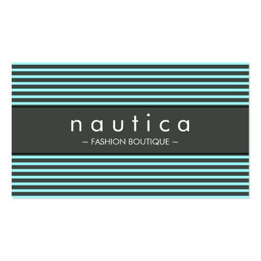 BUSINESS CARD :: nautical striped 11