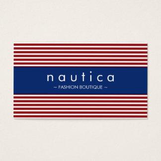BUSINESS CARD :: nautical striped 30