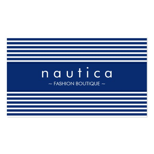 BUSINESS CARD :: nautical striped 4
