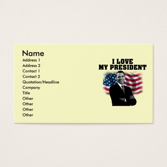 BUSINESS CARD OBAMA