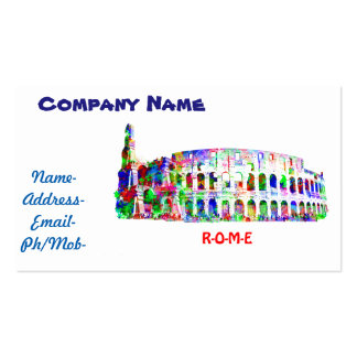Business Card of Roman Colosseum painting
