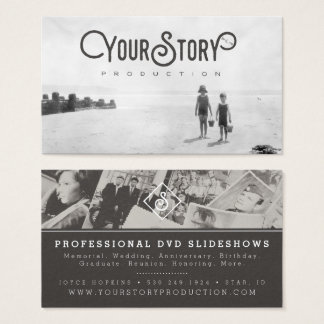 BUSINESS CARD | Old Vintage Kids on Beach Photo