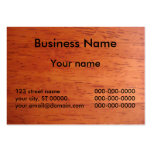 Business Card on Cherry Stained Wood