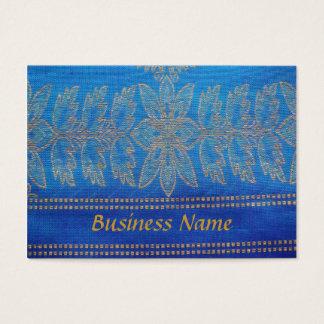 Business Card on Sari Cloth