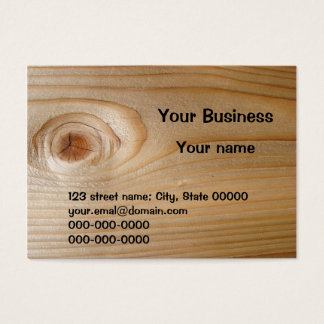 Business Card on Unfinished Wood