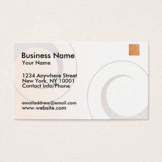 Business Card Orange Logo
