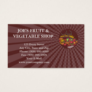 Business card Orchard Crop Harvest Circle Woodcut
