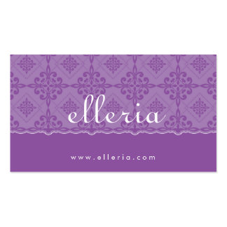 BUSINESS CARD :: ornately patterned 1