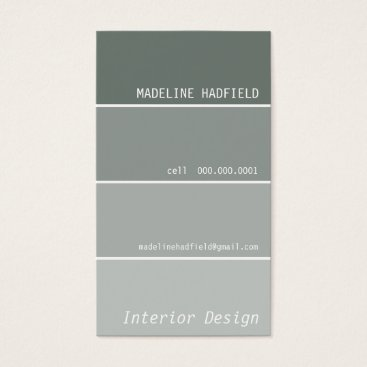 Professional Business BUSINESS CARD paint chip swatch grey silver