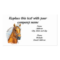 Business Card, Palomino Peruvian Horse Solid Gold