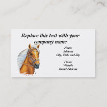 Business Card, Palomino Peruvian Horse Solid Gold Business Card