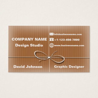 business card parcel post style