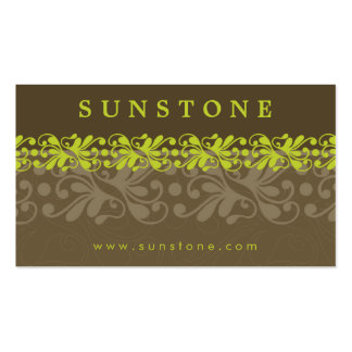 BUSINESS CARD patterned sunstone 1