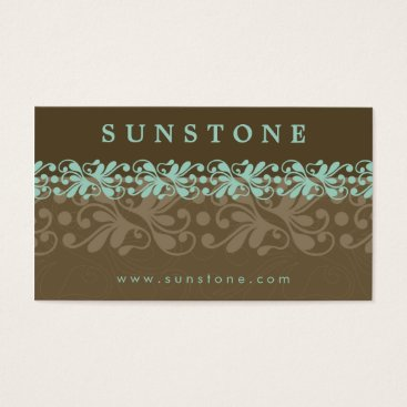Professional Business BUSINESS CARD :: patterned sunstone 6