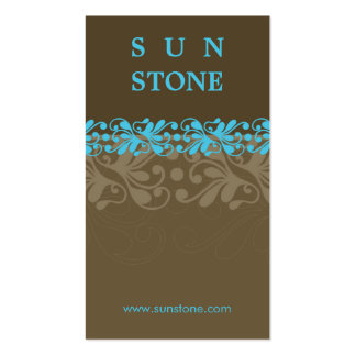 BUSINESS CARD :: patterned sunstone P4