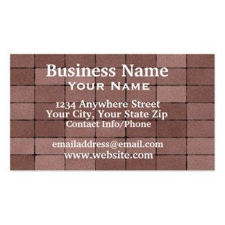 Business Card Paving Bricks
