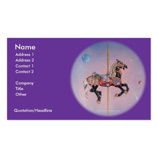 Business Card - Petaluma Carousel Horse 1