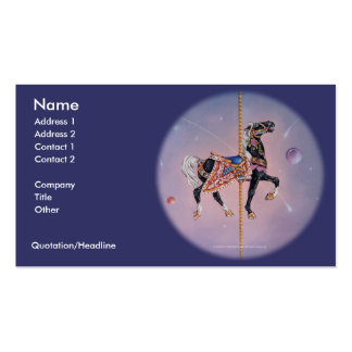 Business Card - Petaluma Carousel Horse 2
