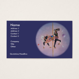 Business Card - Petaluma Carousel Horse 2
