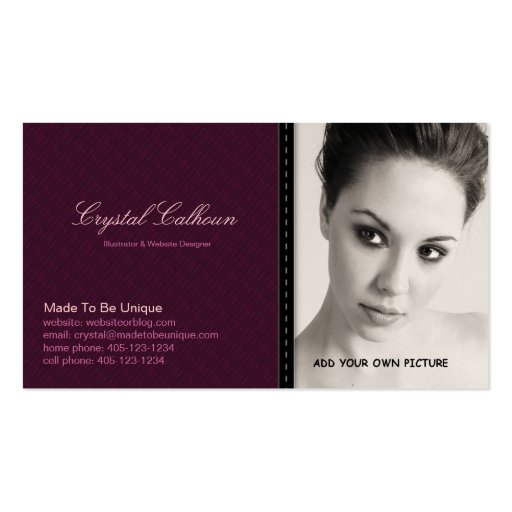 Business Card PHOTO Template - Clean Professional