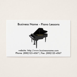 Business Card: Piano Lessons Business Card