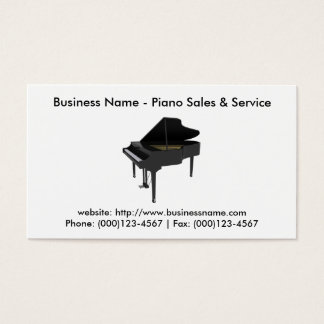 Business Card: Piano Sales & Service Business Card