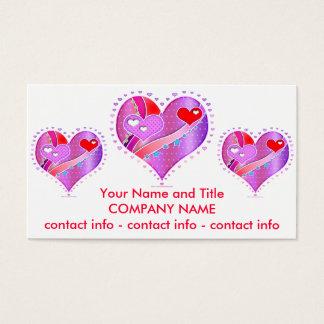 Business Card - Pink Heart, Valentine