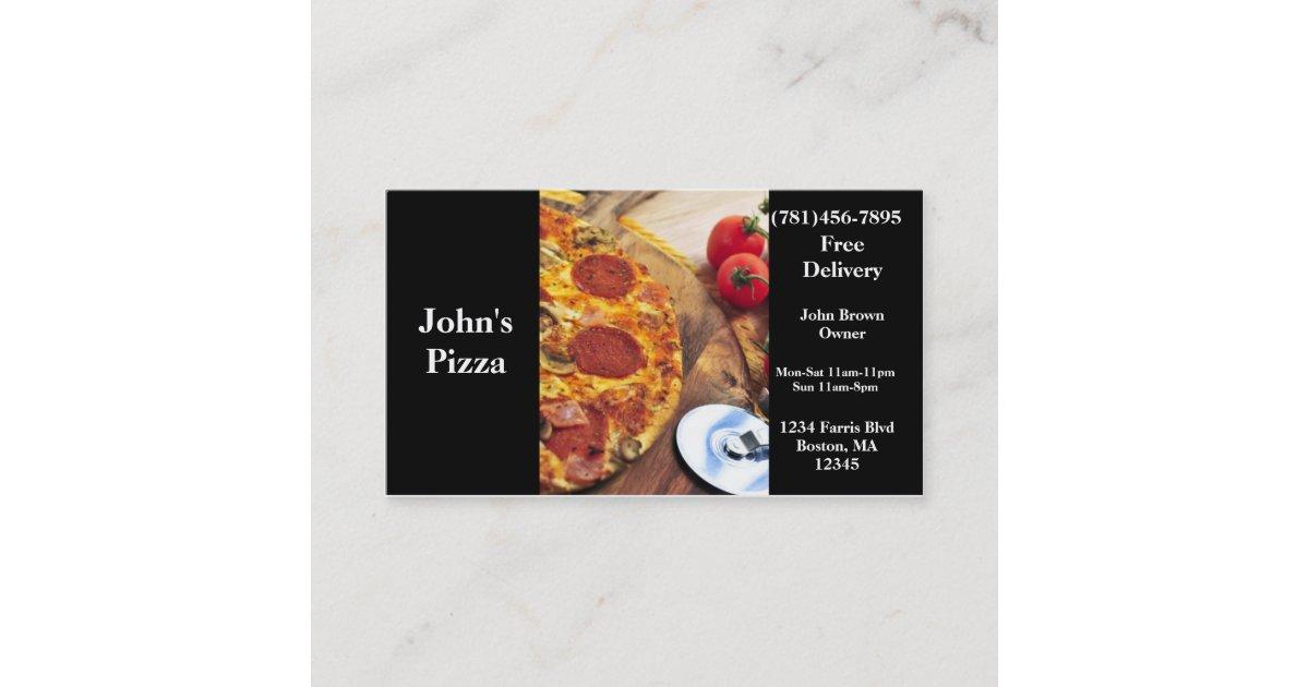 Business Card Pizza Restaurant | Zazzle.com