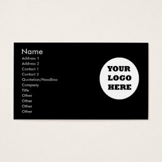 Business Card Plain With Logo