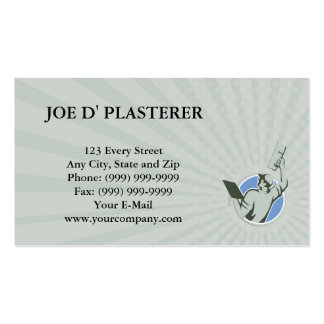 Business card Plasterer Masonry Trowel Raise Circl