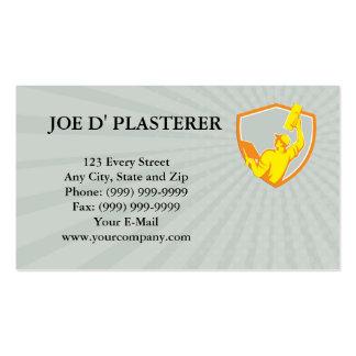 Business card Plasterer Masonry Trowel Raise Up Re