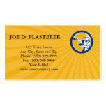 Business card Plasterer With Trowel Circle Retro