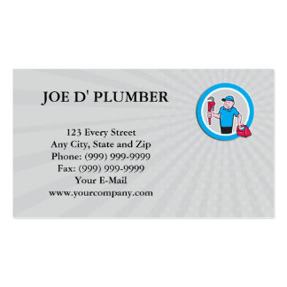 Business card Plumber With Monkey Wrench Toolbox C