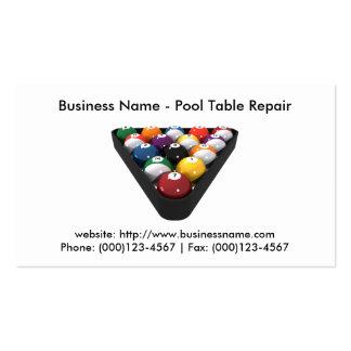 Business Card: Pool Table Repair Business Card