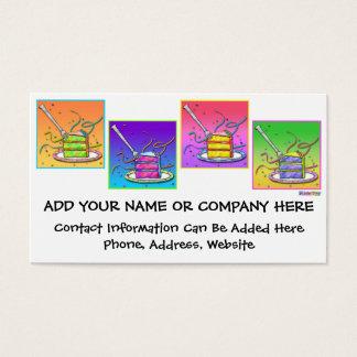 Business Card - Pop Art Cake