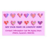 Business Card - Pop Art Crazy Hearts 2