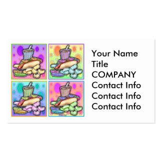 Business Card - Pop Art Hot Dog with Chips and a D