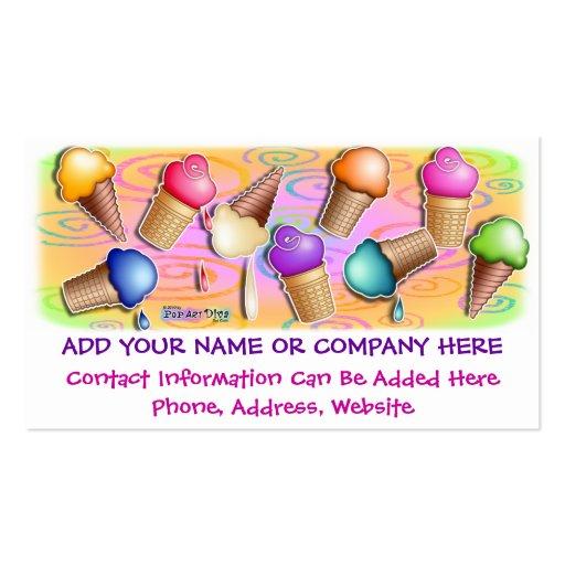 Business Card - Pop Art Ice Cream Cones