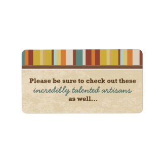 Business Card Pouch Seal (for Events) Custom Address Label