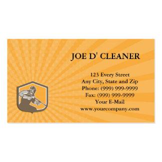 Business card Pressure Washer Cleaner Worker Shiel