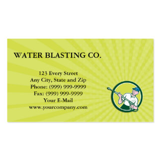 Business card Pressure Washer Water Blaster Circle