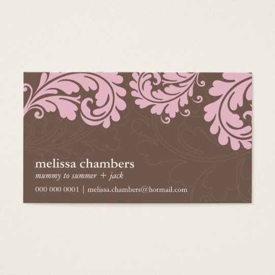 BUSINESS CARD pretty bold flourish