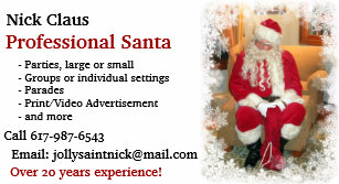 Santa claus business cards templates zazzle business card professional santa business card colourmoves