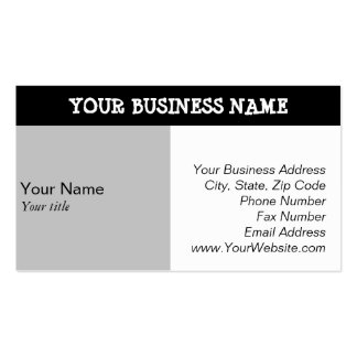 Business Card Professional Standard Templates