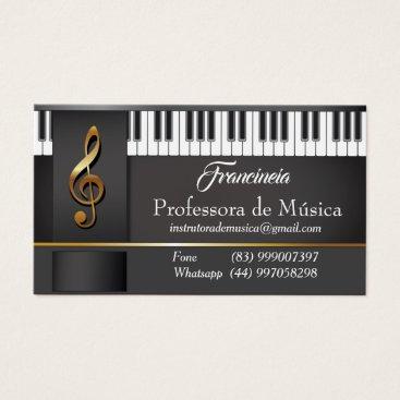 Professional Business Business card Professor Music