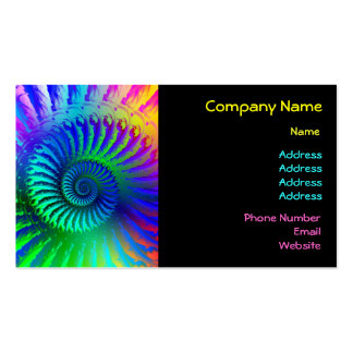 Business Card - Psychedelic Fractal blue turquoise