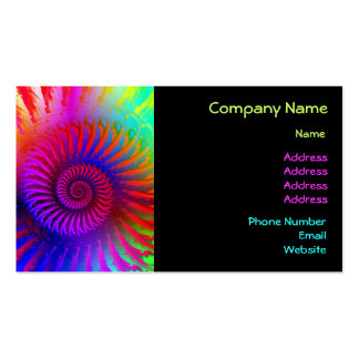 Business Card Psychedelic Fractal pink red purple