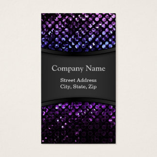 Business Card Purple Crystal Bling Strass